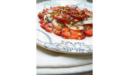 carpaccio fraise