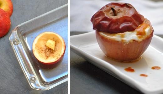 Pomme caramel faisselle