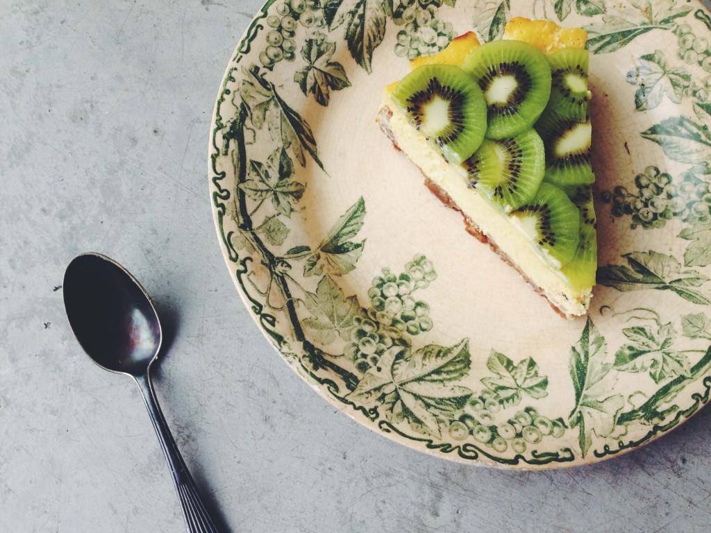 Cheesecake kiwi-citron