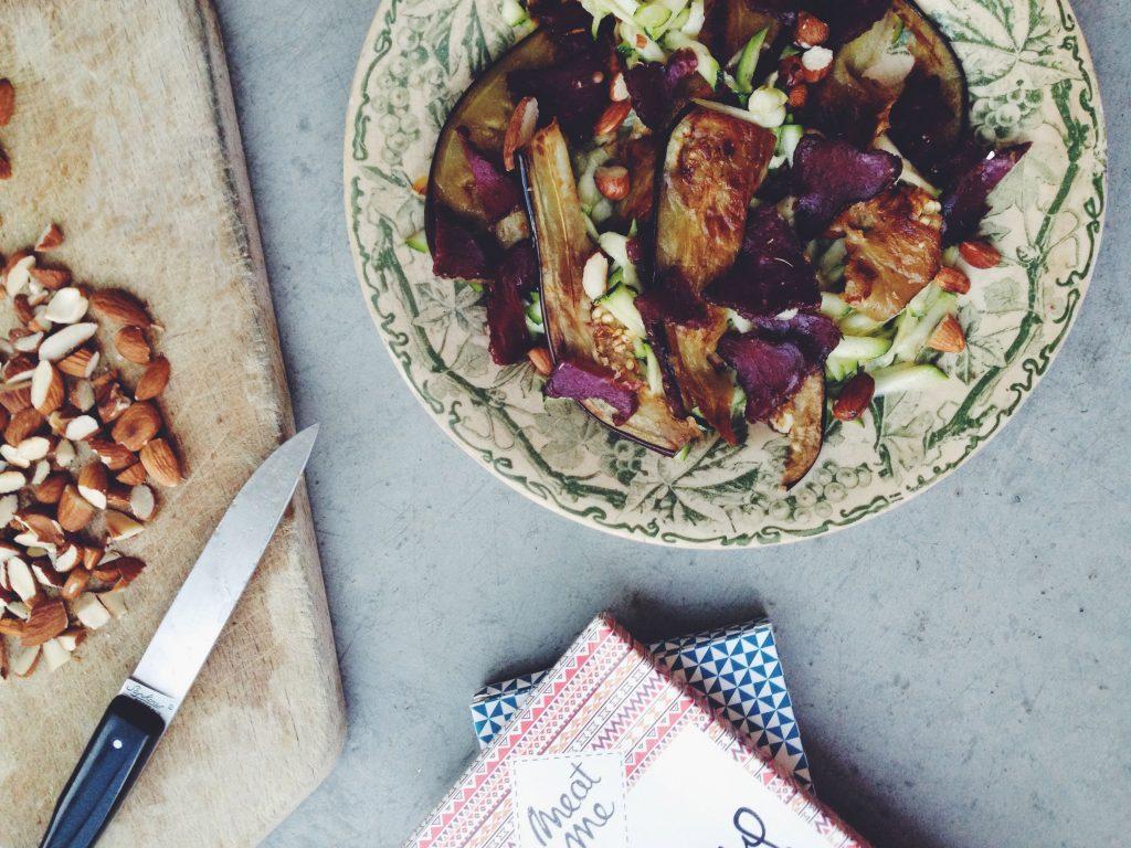 Le biltong à la française débarque ! Et une petite salade tiède d'aubergine, courgette et amande