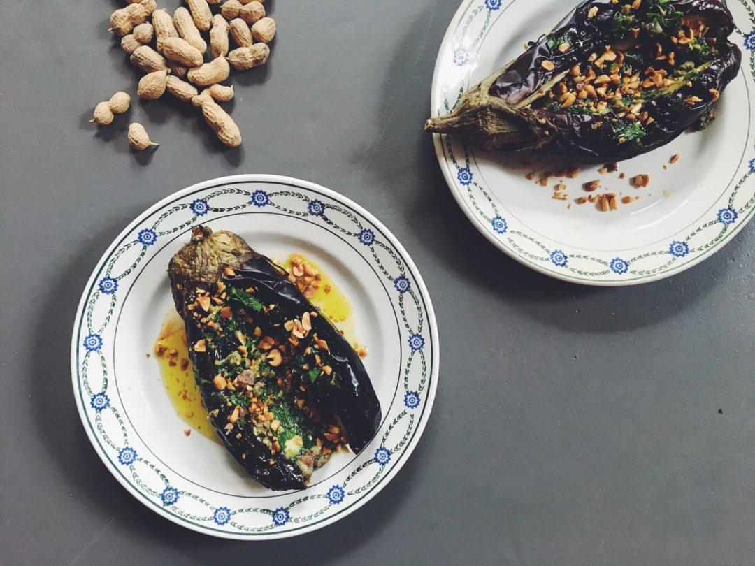 aubergines braise cacahuetes francaises