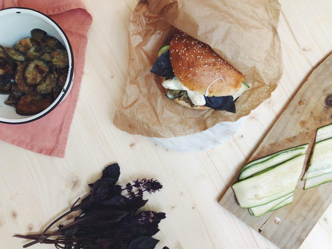 veggie burger gorgonzola